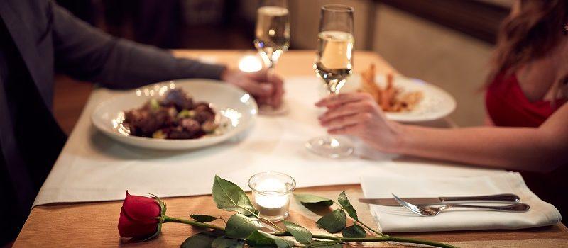 Romantic dinner restaurant