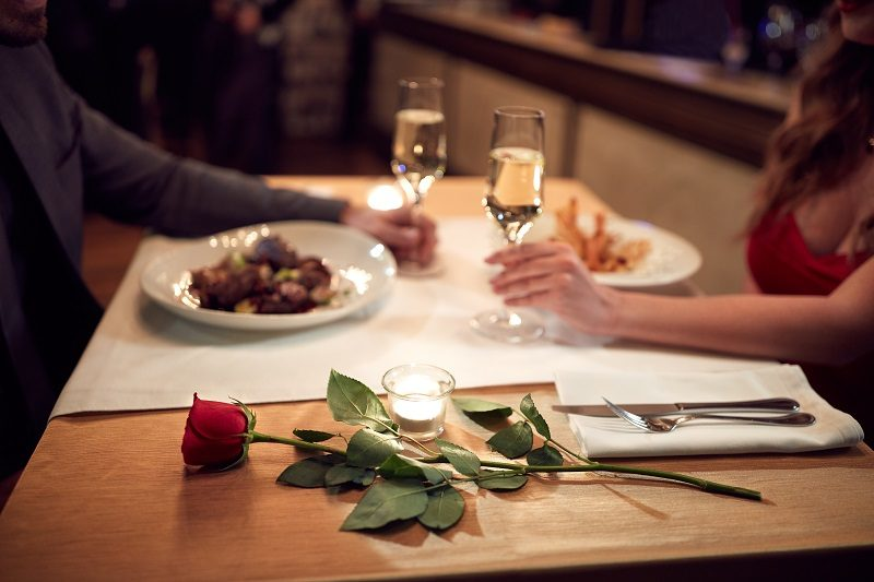 Romantic dinner restaurant