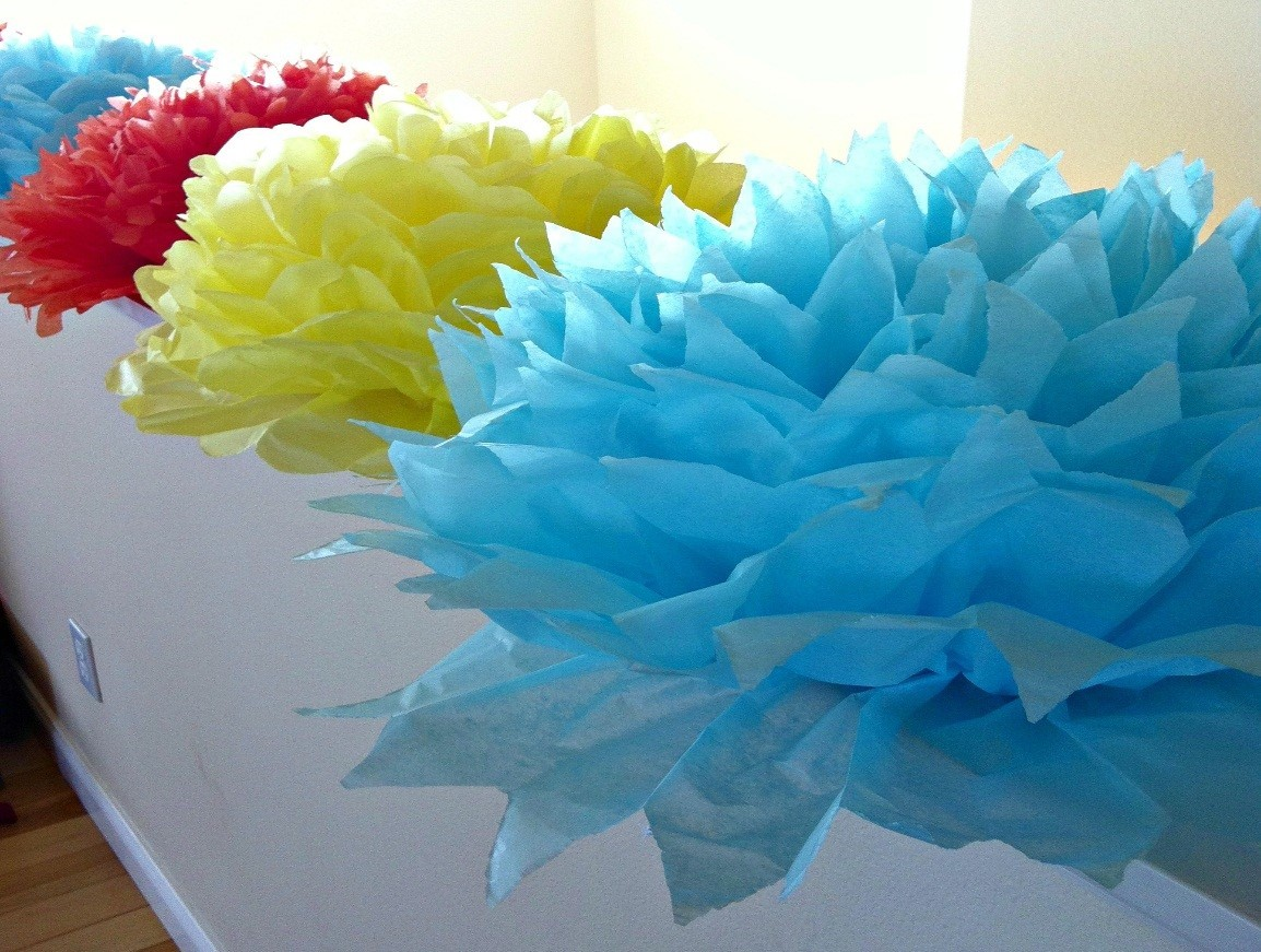 Multicolor Summer Design Tissue Paper Flowers