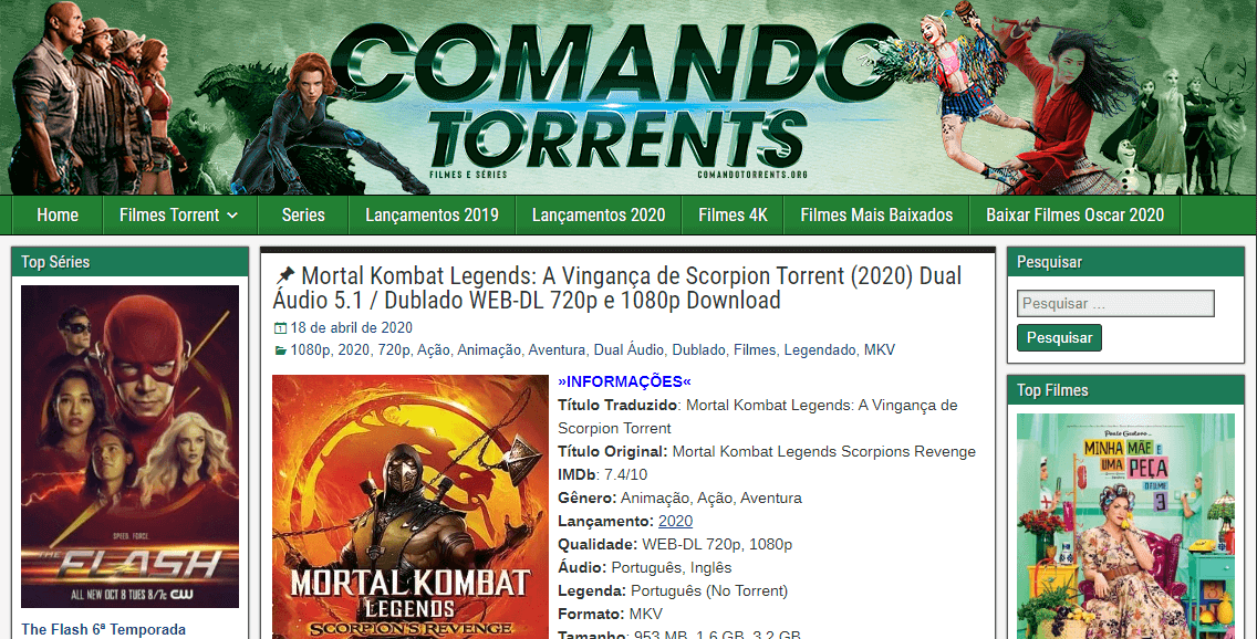 Comando Torrent, comandotorrents
