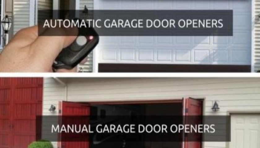 manual vs automatic garage door