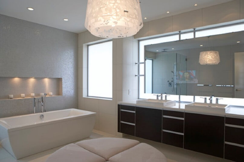 Replace The Old Bathroom Lighting Fixtures