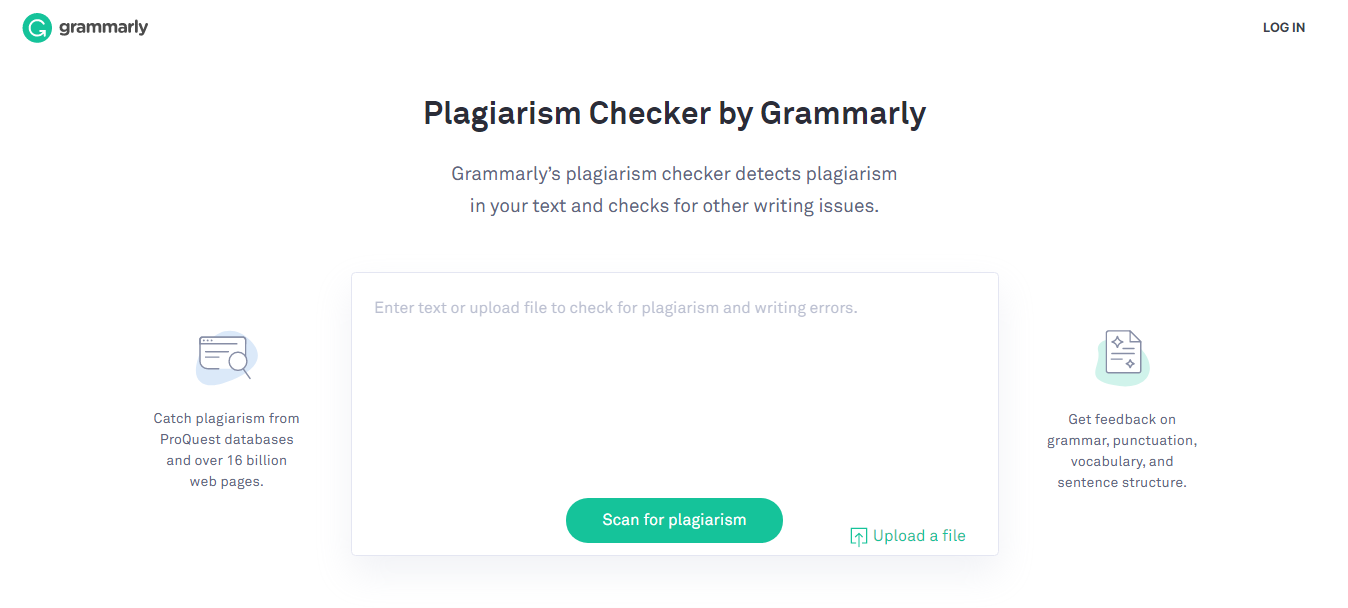Grammarly Online Plagiarism Checker